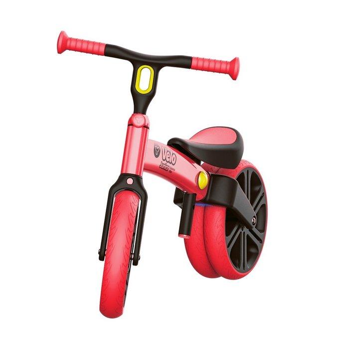(Holiway) YVolution Velo Junior 平衡滑步車-清新款-紅 (共四色)