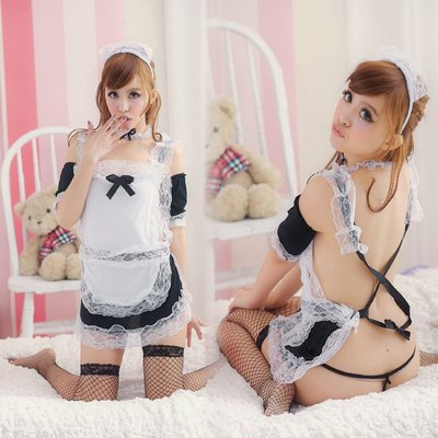 Sexy Maid costume Sleepwear Nightdress Lingerie role play