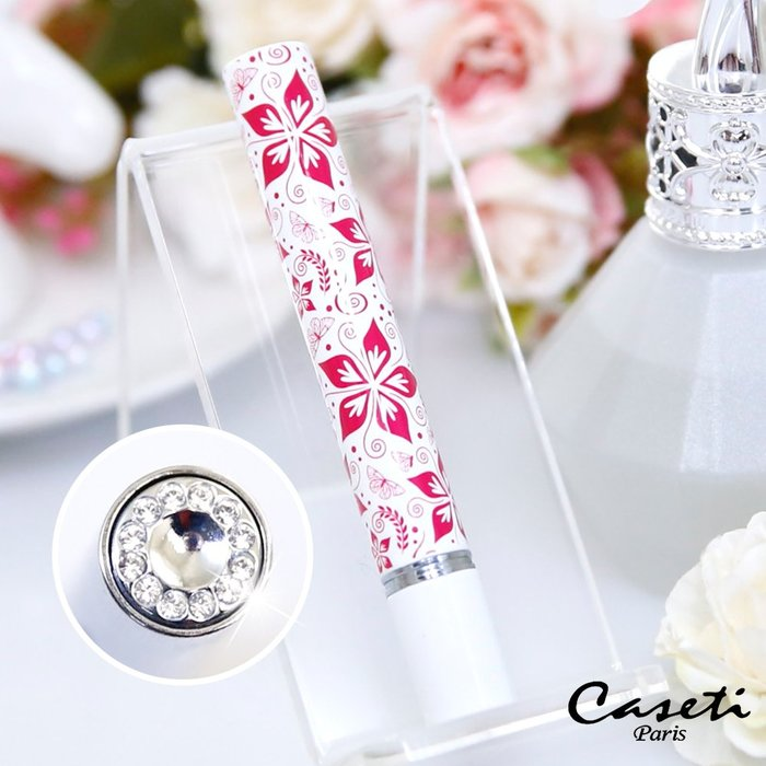 【Caseti】白底紅花 旅行香水瓶 香水攜帶瓶 香水分裝瓶