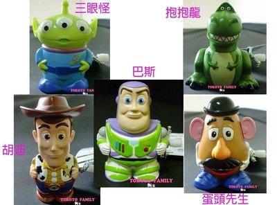 《東京家族》迪士尼樂園限定玩具總動員胡迪/巴斯/三眼怪/蛋頭先生/抱抱龍  發條玩具 公仔 5選1 日本正版
