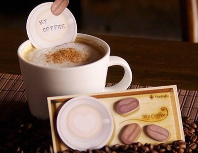 ~YOOWOO~ ~韓空運 Thehaki My Coffee 咖啡戀人 心型奶泡 咖啡豆 書籤 Memo 便利貼~