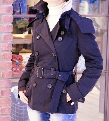 Burberry 3976242 Heritage Trench Coat 經典中版連帽風衣 黑