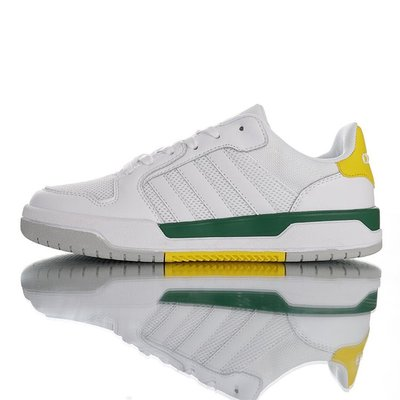 ADIDAS NEO ENTRAP 輕量 休閒運動百搭男生慢跑鞋 板鞋 網面 白深綠黃 FX3977