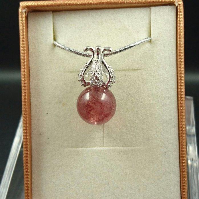 ~水晶花園~ 甜美又晶瑩剔透的漿果  草莓晶墜子   骨幹水晶(不含鍊子)