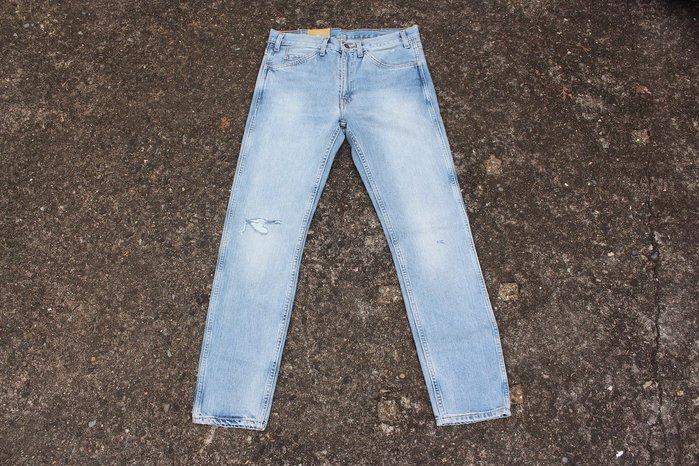 「蔣柒」全新品!Levis LVC VINTAGE CLOTHING 1969 606 淺色牛仔褲 膝蓋破壞 復刻 丹寧