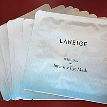 Laneige 水光亮白修護眼膜 White Dew Intensive Eye Mask $80買曬8片 包平郵