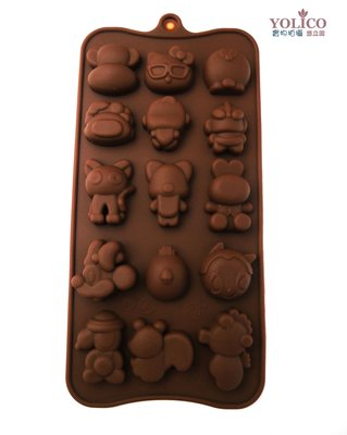 【悠立固】Y740 經典卡通明星大集合矽膠模 巧克力手工皂模具 蛋糕烘焙工具 冰塊布丁果凍 軟糖翻糖模具 食品級 台南市