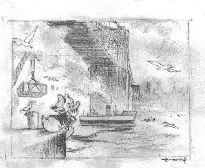迪士尼Disney 藝術家:Tony Fernandez 紐約風景  附簽名, 附證書