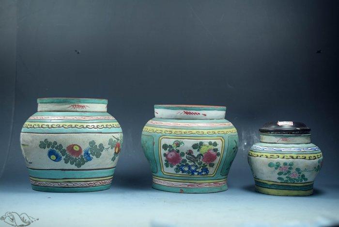 【阿鴻之寶】老茶罐 3個一組 自行配蓋