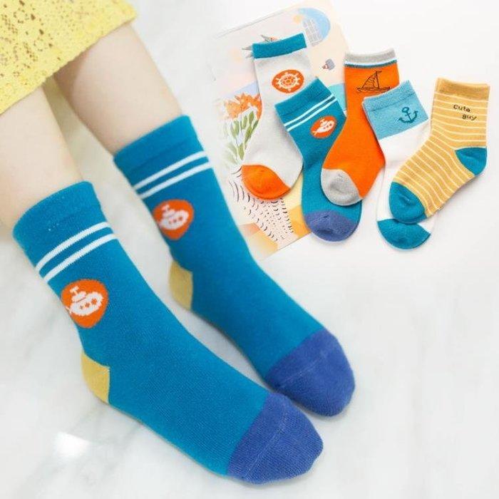 (免運)妙優童兒童襪子純棉寶寶襪子秋冬厚款男女童嬰兒襪子地板襪5雙裝【莉芙小鋪】
