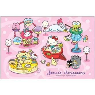 P2 拼圖 HP01000-150奇幻樂園 1000 片盒裝拼圖Sanrio characters【小瓶子的雜貨小舖】
