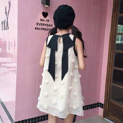 2018夏季新款韓版學生裙子女裝甜美小清新娃娃連衣裙少女中長款萌