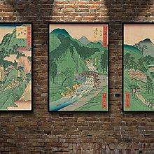 現代裝飾畫諸國六十八景浮世繪日本風俗風景復古懷舊(多款可選)