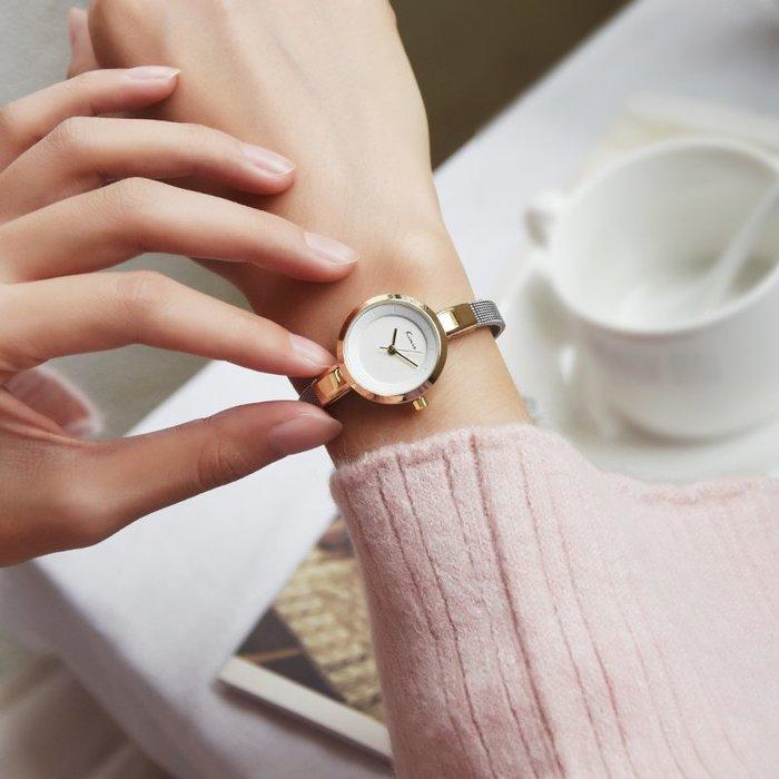 888利是鋪-金米歐簡約氣質手表女士時尚潮流圓形小表盤手表女防水石英腕表#手錶