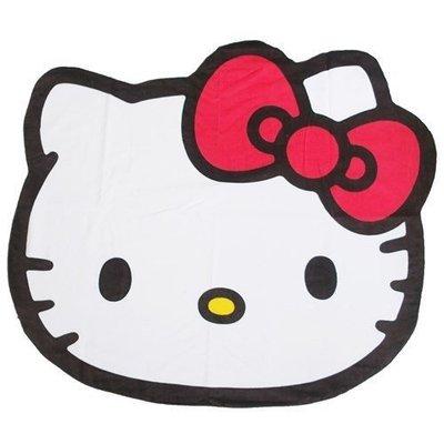 41+現貨不必等 日本製 Hello Kitty 大臉 毛巾被 毛巾毯 午休小被子 小日尼三 my4165
