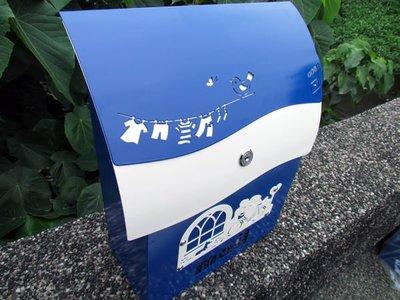 ☆成志金屬廠 ☆ 彩色 鋁合金 信箱(小)--有鎖---孔雀籃特別版