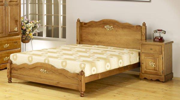 【DH】貨號LK-CS09《鄉村》5尺實木彩繪玫瑰雙人床架˙另有3.5尺˙質感一流˙主要地區免運