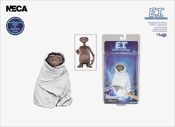 ArtLife @ NECA E.T Extra Terrestrial NightFlight 經典電影 白睡袍 ET
