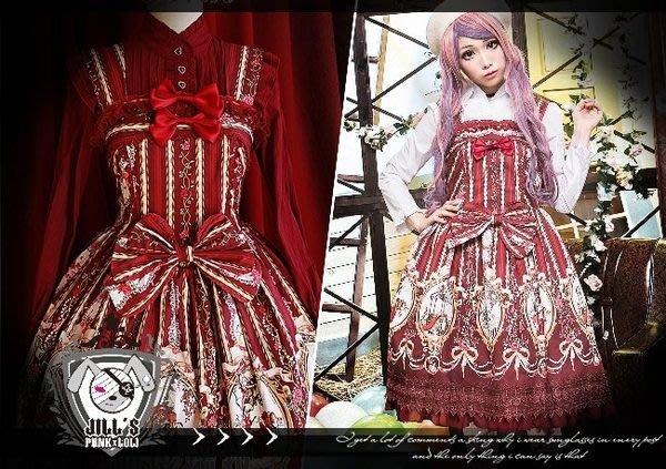 Oo吉兒oO洋裝~蘿莉塔夢幻童話風寵愛仙杜瑞拉肩帶洋裝 LOLITA紅【JI3044R】