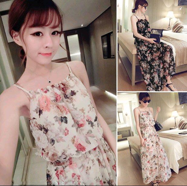 Zoe #x27 s SeCreT甜美波希米亞渡假碎花洋裝 細肩帶洋裝 女生 洋裝 裙裝