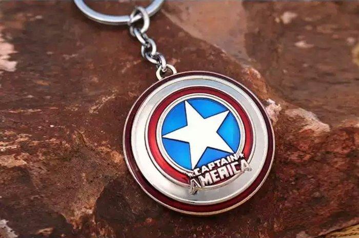 復仇者聯盟美國隊長盾牌 銀色 鑰匙圈 掛飾 吊飾