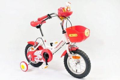 2013新版Hello Kitty12吋高把聲光音樂兒童腳踏車/絕版限量