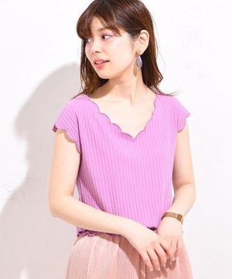 日本品牌natural brooch 紫色花瓣領上衣