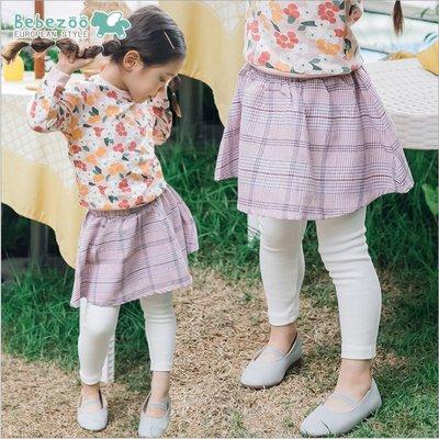 ✽Fall 2018秋✽韓國Bebezoo女童甜美格子假兩件褲裙
