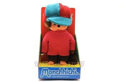 ☆╮泰迪學園╭☆ ♥♥日本Sekiguchi超人氣 MONCHHICHI 夢奇奇【英倫彩帽風男孩】♥♥