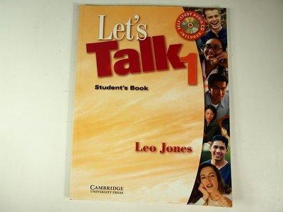 【考試院二手書】《Let's Talk 1: Student's Book》│Cambridge University Press│ 七~八成新(11F22)