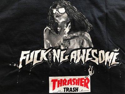 【款款】Thrasher x Fucking Awewsome 聯名 黑色短T 現貨 M號