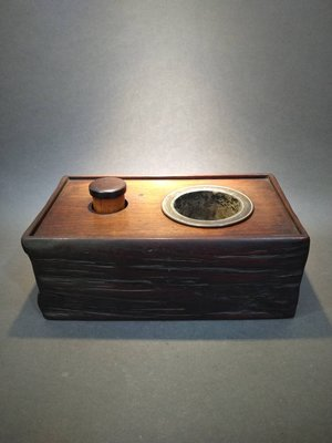 ☆清沁苑☆日本古民具~唐木製 古い煙草盆 手爐 小火鉢~d550
