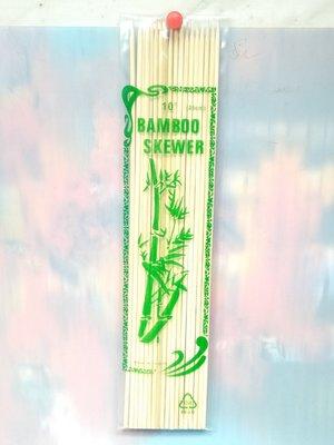 10吋烤肉竹串25公分~烤肉叉 竹叉 竹串 竹籤 免洗餐具 中秋烤肉用品《八八八e網購