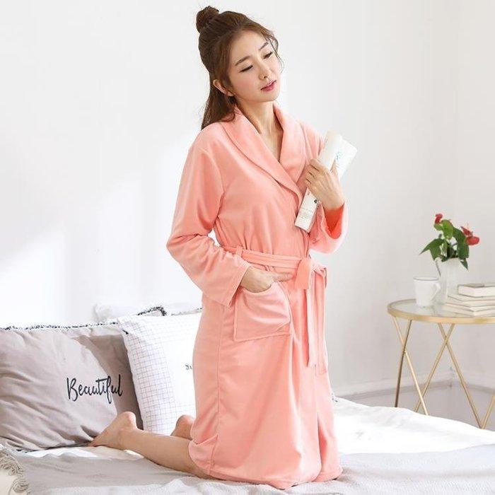 睡袍睡袍女秋冬季加厚珊瑚絨男士睡衣冬天加長款浴衣法蘭絨情侶浴袍