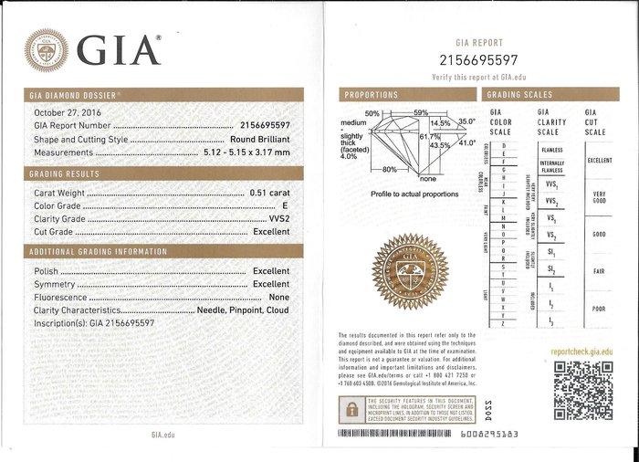 GIA 51分 E color VVS2 3EX H&A 八心八箭完美車工 批發價 美國紐約裸鑽直送【大千珠寶】