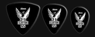 ☆ 唐尼樂器︵☆美國 Clayton Black Raven 木吉他/電吉他 Pick 黑色老鷹款彈片(超耐磨防滑款)