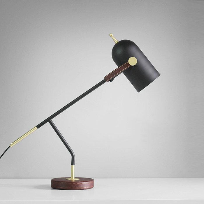 Oval 工業風 雙節 北歐 創意 個性皮革 鐵藝檯燈 書房臥室 床頭燈 護眼燈 LED檯燈 E27 110-220V