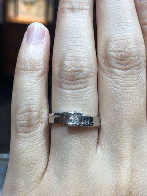 12分天然鑽石鉑金戒指,高等級八心八箭鑽石搭配PT950手工戒台,日本鉑金婚戒款式,超值優惠價22800