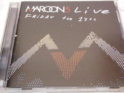Maroon 5 魔力紅 -- Live Friday the 13th (CD+DVD)