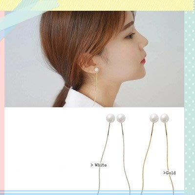 珍珠流蘇 線式流蘇 簡約 氣質 大方 甜美 OL 耳環 耳針 耳夾 單只 【希望種子購物網】