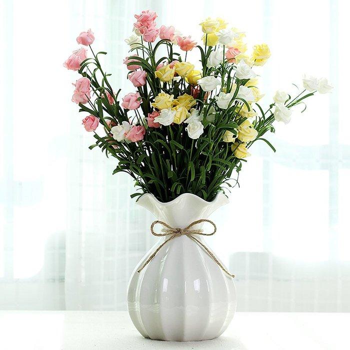 爆款干花花瓶陶瓷家居客廳餐桌辦公室裝飾插花擺件簡約現代異形工藝品#簡約#陶瓷#小清新