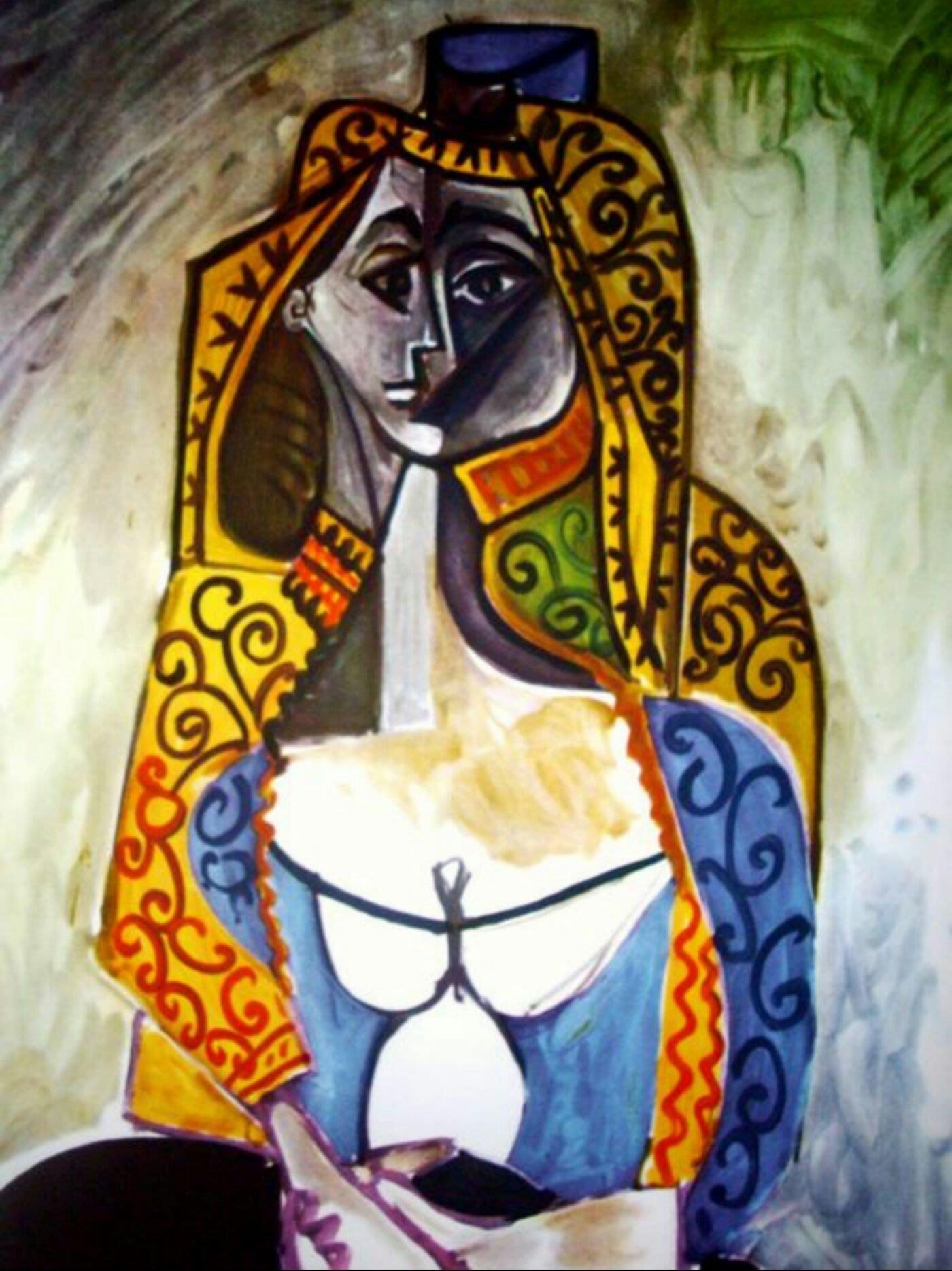 [畢買~世界才子]畢卡索Picasso(後)-Turkish shawl版畫