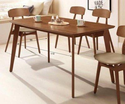 【風禾家具】FT-665-1@ED山毛櫸4.6尺實木餐桌【台中5600送到家】餐台 餐檯 休閒桌 工作桌 北歐風 傢俱