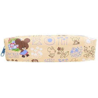 含稅  小熊學校 B款 皮質 筆袋 鉛筆盒 中筆袋 防潑水 The Bears #x27 School【832035】