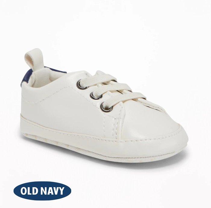 經典百搭款 小白鞋 ✈ OLD NAVY 老海軍 🇺🇸 美國進口 兒童休閒鞋 運動鞋 學步鞋 (典雅海芋白)