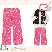 【B& G童裝】正品美國進口GYMBOREE Dot Flare Pant 粉色點點彈性長褲8yrs
