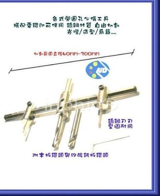 INPHIC-商用 營業 大面積圓形鑽孔必備40~300MM超硬鎢剛自由錐自在錐~鑽床電鑽起子頭適用