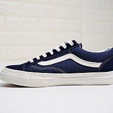 D-BOX Vans Vault OG style 36 海軍藍 白 復古 時尚板鞋 慢跑鞋 男女鞋