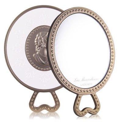 min~法國Laduree 馬卡龍彩妝 夢幻浮雕梳妝鏡 典藏手拿鏡 全新專櫃正貨