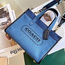 【小怡代購】 全新 COACH 89163 新款托特包 拼色帆布包 運動織帶 經典簡約 超低直購